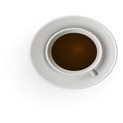 Реалистичный вектор чашка крепкого ароматного кофе эспрессо
