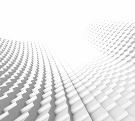 Pattern White Origami Movement Parametric art and Design Background