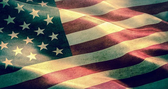 grunge American USA flag