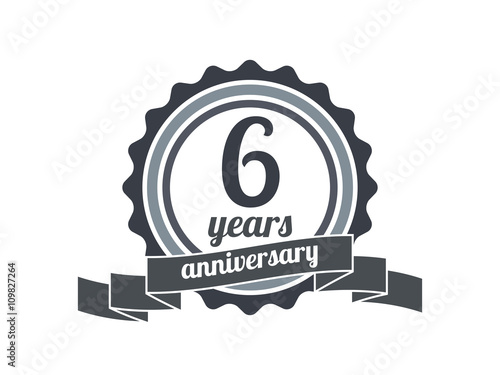 D anniversary th isolated on white background vector clipart