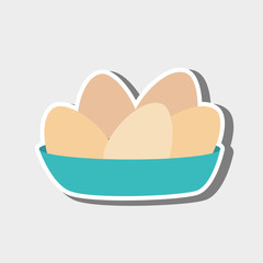 eggs in dish design