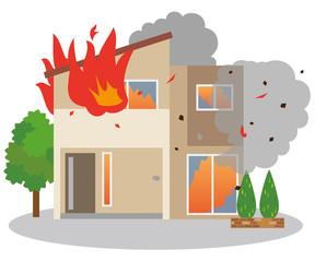 火災 火事 家 住宅
