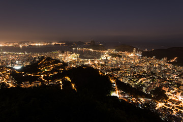 Wall Mural - Night View of Rio de Janeiro City and Sugarloaf Mountain