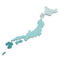 Japan Map Vector High Detailed