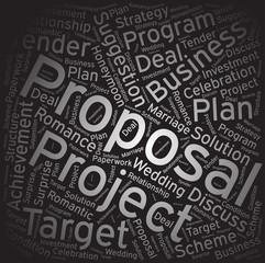 Proposal ,Word cloud art background