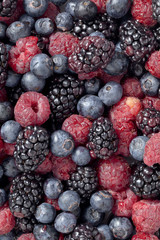 blackberries, strawberries and grapes.
