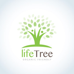 Tree logo. Vector logo template.