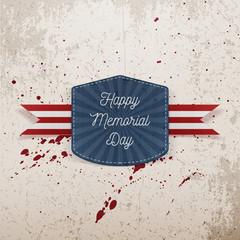 Happy Memorial Day greeting Emblem