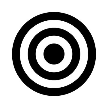 Bullseye target or arrow target flat icon for apps and websites