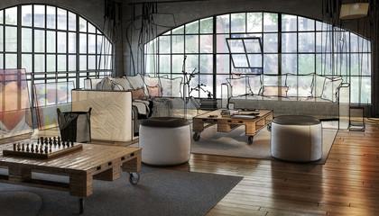 Postindustrial Loft Conception (concept)