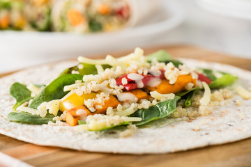 Grilled vegetables wraps