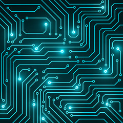Circuit board, abstract technology background, vector illustration, eps 10