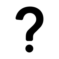 Question mark flat icon for apps and websites