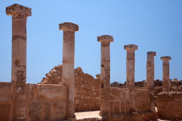 Ancient greek ruins at Paphos Cyprus