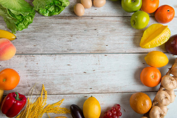 healthy food background concept photo with copyspace