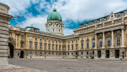 panoramic view of yard in Buda Castle