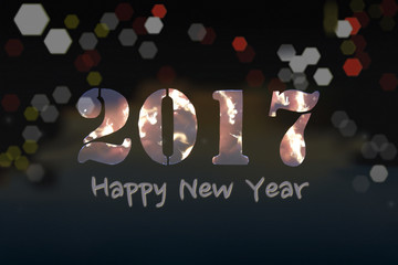 Happy New Year 2017, abstract background