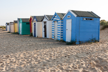 Colourful beach huts at Southwold