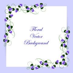 Floral vector background