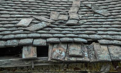 Devastated roof