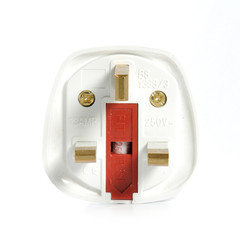 A Power Adaptor on White Background