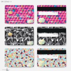 Geometric Shapes Credit Cards