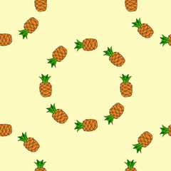 A pineapple. Seamless pattern background pineapple.