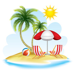 Summer realistic design. vector