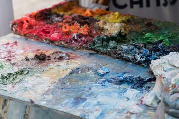 artist color palette close up