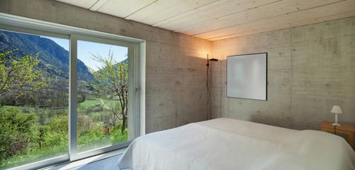 modern chalet, bedroom