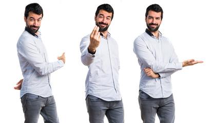 Man coming gesture