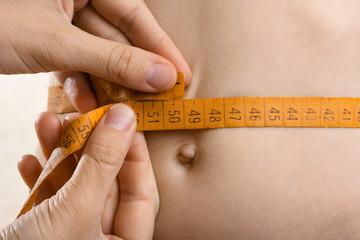hands measured waist