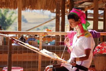 Traditionelle Padaung Frau aus Myanmar