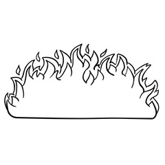black and white fire border