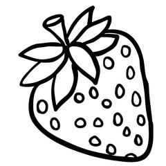 black and white strawberry
