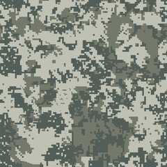 Urban pixel camouflage, Seamless vector pattern.