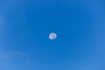 the moon on day time