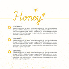 Honey vector poster