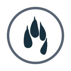 hare paw print icon