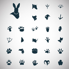 Set of twenty seven animal icons