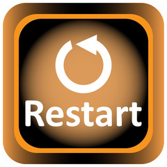 Icon orange restart and arrow