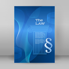 law business style presentation template format A4 Cover page