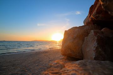 rocks by the shore in Alghero
