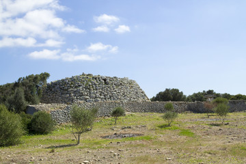 The Talaiotic village of Trepuco. Minorca, Balearic Islands