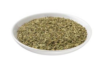 tea leaves in bowl
