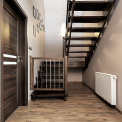 Urban apartment - wooden stairs
