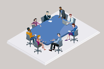Office Meeting arround a Conference Table