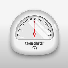 Thermometer. Realistic vector illustration.