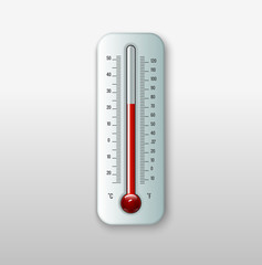 Vector illustration of thermometer.