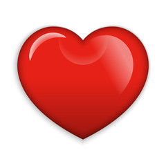 A Big Red glossy Heart